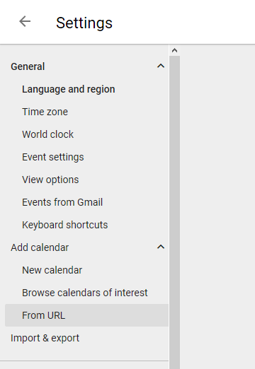 Windows 10: sync shared calendar via Google Calendar